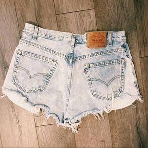 Vintage Levi Denim Shorts Waist Size 34